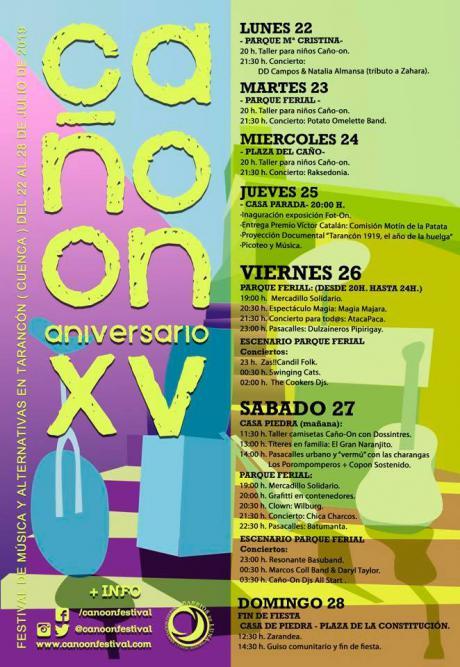 Caño On Festival XV se celebra del 22 al 28 de julio.