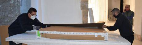 Las obras de la colección Roberto Polo empiezan hoy a ser instaladas en la antigua iglesia de Santa Cruz
