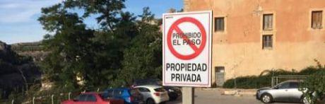 El Obispado defiende su actuación de cerrar al público una de las terrazas de la hoz del Júcar