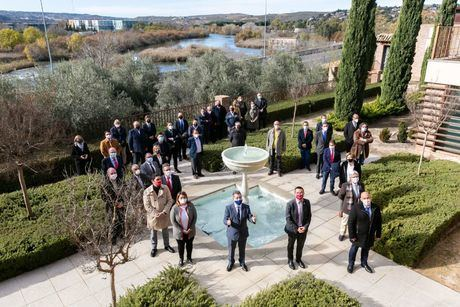 Firmantes del acuerdo en defensa del agua de Castilla-La Mancha
