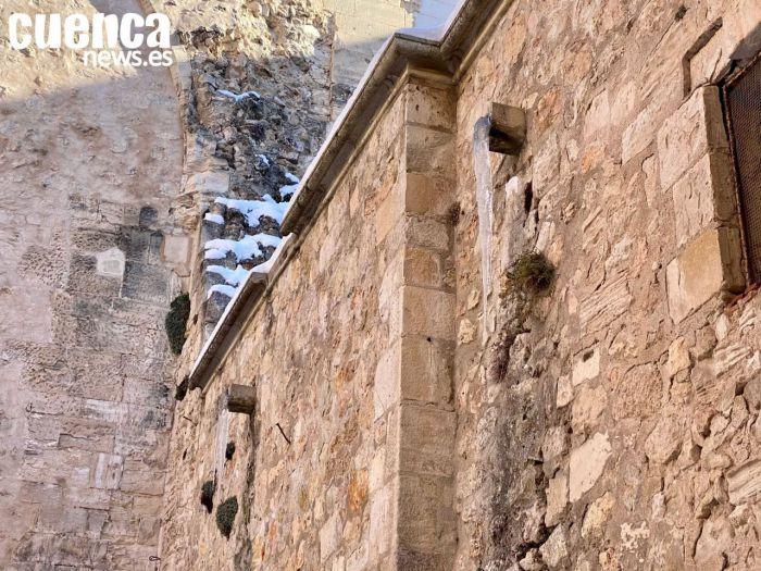 Carámbano en la Catedral de Cuenca