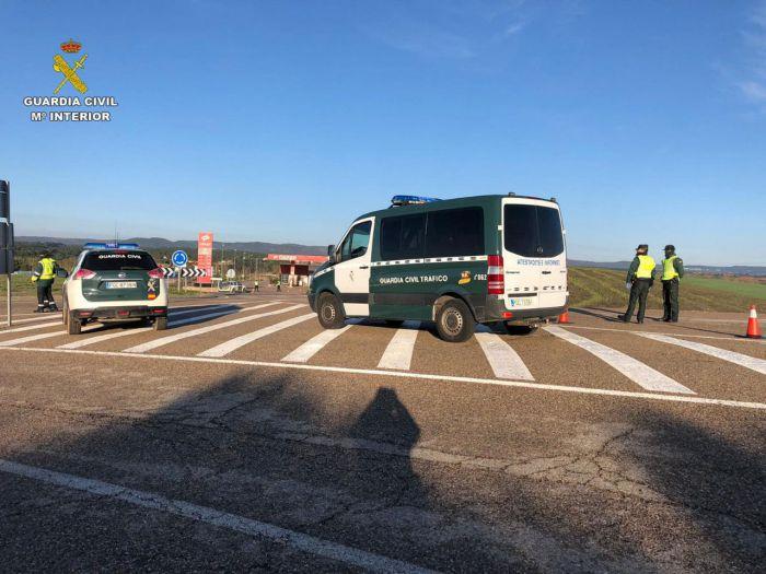 Control de tráfico de la Guardia Civil en la provincia