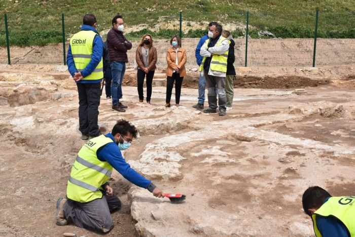 La Diputación está invirtiendo un total de 100.000 euros en las termas romanas de El Cañavate