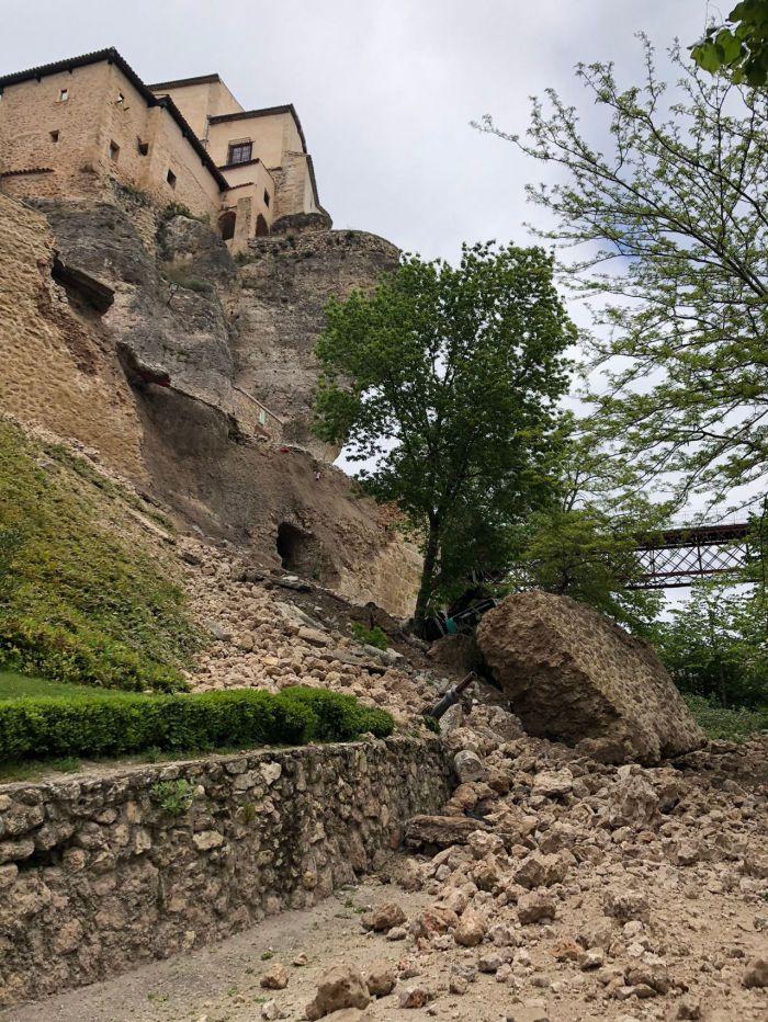 Aprobada la declaración de emergencia de la contratación de los trabajos de reparación y reconstrucción del muro de la calle Canónigos