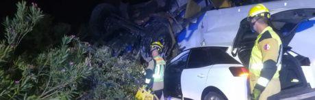 Un menor y cuatro adultos heridos en un accidente de tráfico en la A-3 en Castillejo de Iniesta