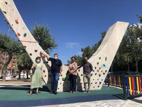 Villa Luz ya cuenta con un rocódromo urbano al aire libre