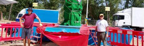 Atracción acuática y una noria, novedades en una Feria de San Julián que los feriantes reciben