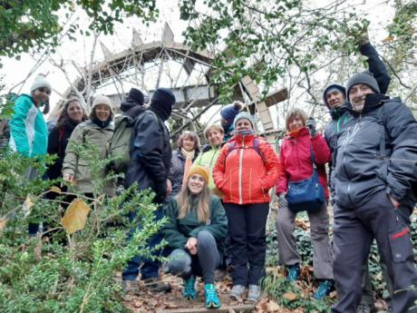 Ruta botánica en el paseo botánico de Villalba de la Sierra