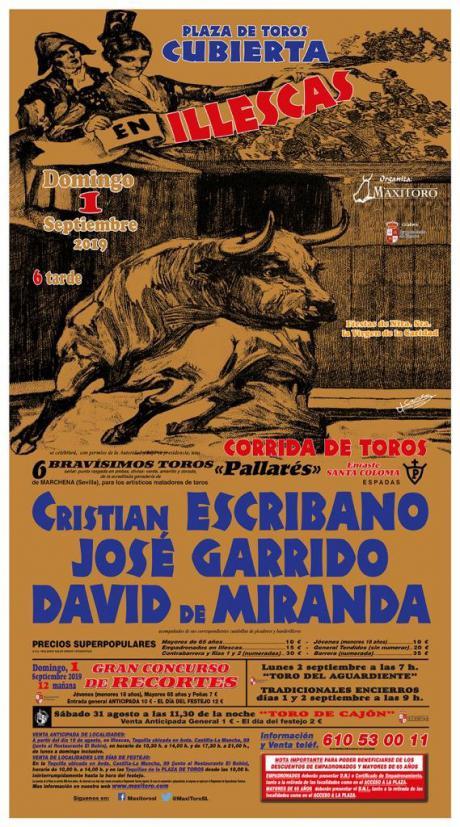 Cristian Escribano, José Garrido y David de Miranda, con los Santa Coloma en Illescas