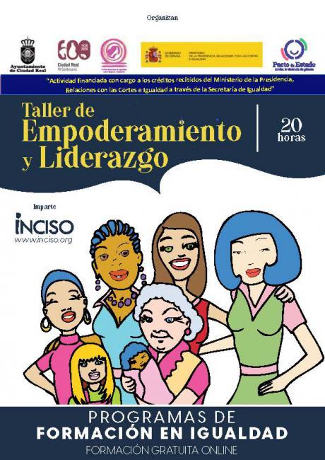 Igualdad organiza un taller de empoderamiento y liderazgo, virtual y gratuito en Ciudad Real
