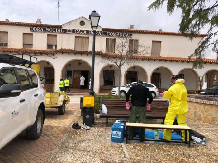 El ejército y GEACAM se suman al dispositivo de limpieza y desinfección de Mota del Cuervo