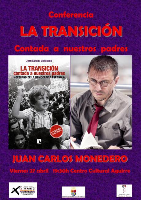 Juan Carlos Monedero impartirá una charla-coloquio dentro de la programación del Abril Republicano 2018