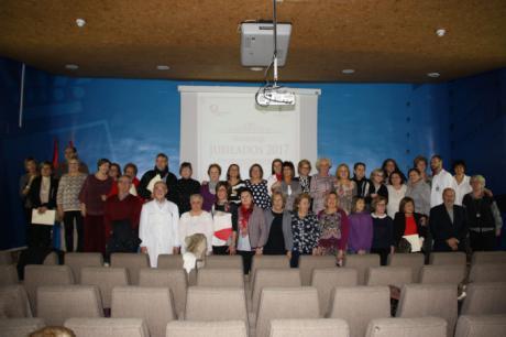 La Gerencia del Área Integrada de Cuenca homenajea a los trabajadores que han alcanzado su jubilación durante el año 2017