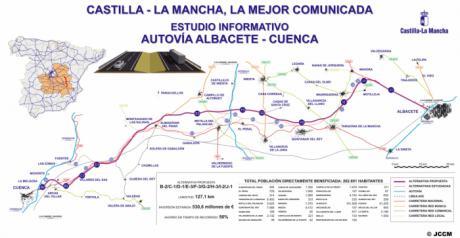 """Para el PSOE, los alcaldes del PP reclaman """"ahora"""" la construcción de la Autovía Cuenca-Albacete que paralizó Cospedal"""