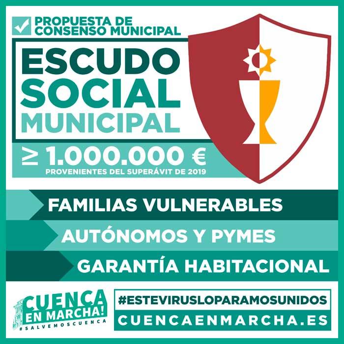 """'Cuenca, En Marcha!' busca el acuerdo de todos los grupos para destinar 1 millón de euros a un """"Escudo Social Municipal"""""""