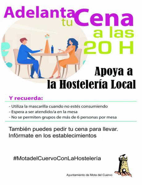 El Ayuntamiento de Mota lanza una campaña de apoyo a la hostelería local