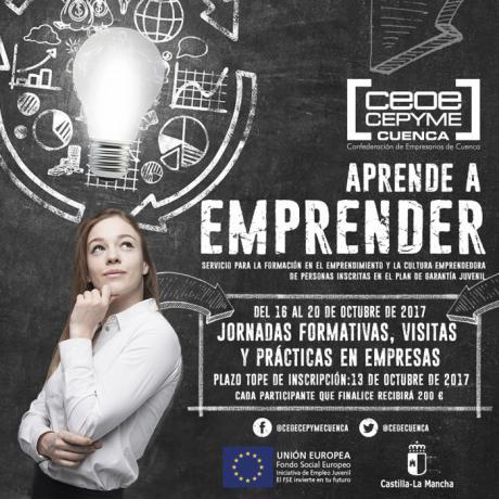 CEOE CEPYME Cuenca pondrá en marcha su proyecto 'Aprende a emprender'