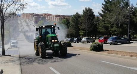 ASAJA colabora con el Ayuntamiento en la desinfección de las calles