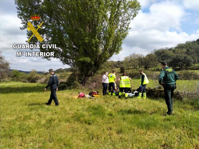 La Guardia Civil localiza con vida a un motorista desaparecido tras haber sufrido un accidente en El Real de San Vicente