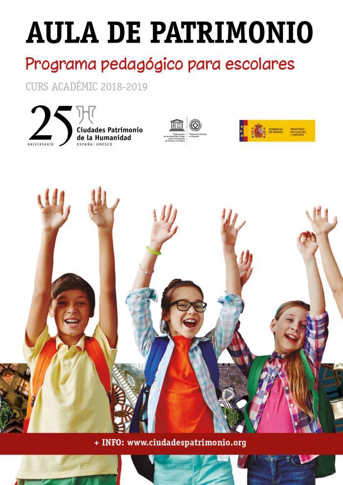 """El Grupo de Ciudades Patrimonio de la Humanidad convoca la sexta edición de su programa pedagógico para escolares 'Aula de Patrimonio"""""""
