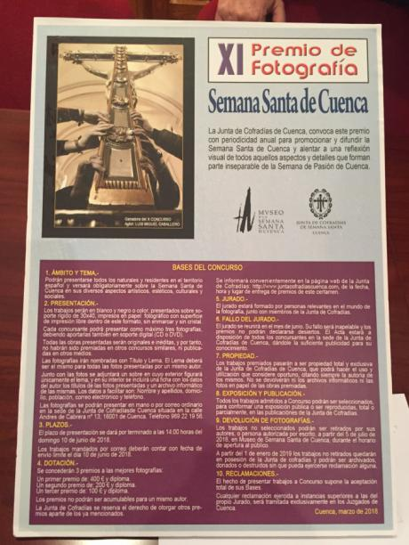 """Convocada la undécima edición del Premio de Fotografía """"Semana Santa de Cuenca"""""""