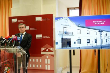 El rector de la UCLM da cuenta a la sociedad de los resultados de la institución en los últimos cuatro años
