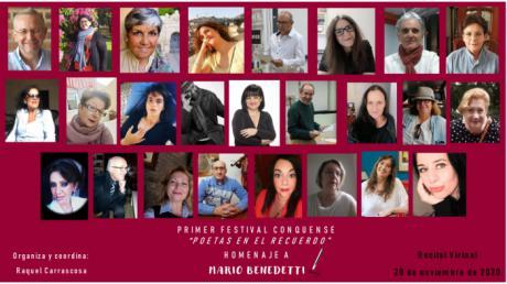 La poeta conquense Raquel Carrascosa organiza un homenaje virtual a Mario Benedetti dentro del I Festival de Poetas en el recuerdo