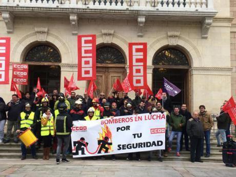Los bomberos de la Diputación volverán a concentrarse el próximo martes