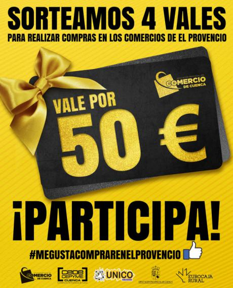 La Asociación de Comercio ha sorteado los 4 vales de 50 euros para comprar en El Provencio