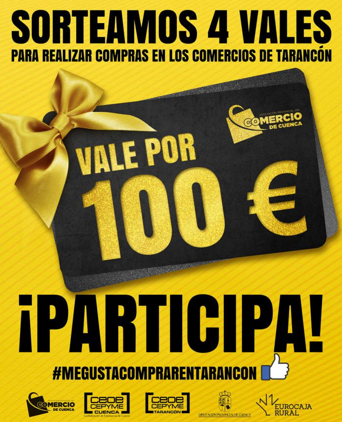 La Asociación de Comercio sigue con sus sorteos, esta vez en Tarancón, con 4 vales de 100 euros