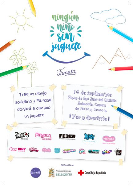"""FAMOSA organiza la tercera edición de la campaña """"Ningún niño sin juguete"""" en Belmonte"""