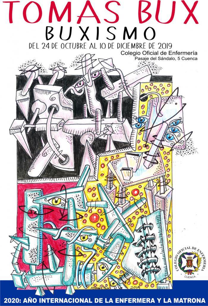 El Colegio de Enfermería de Cuenca continua con su nuevo proyecto de exposiciones artísticas con la obra de Tomas Bux