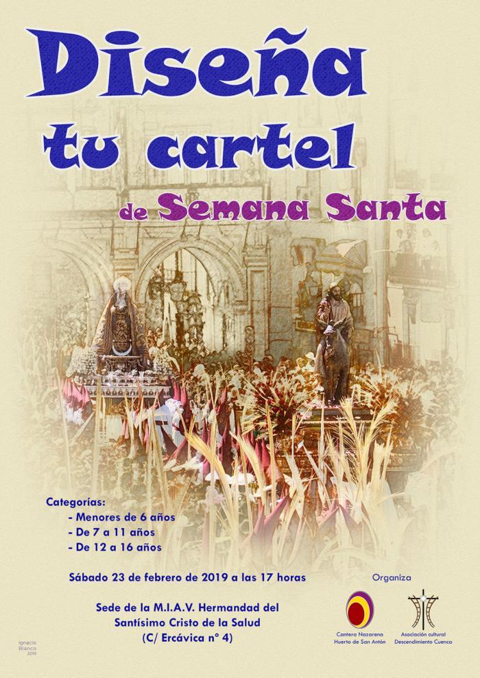 """La Cantera Nazarena y la A. C. Descendimiento Cuenca organizan el concurso """"Diseña tu Cartel de Semana Santa"""""""