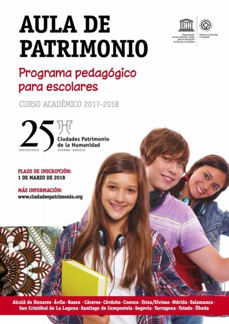 El Grupo de Ciudades Patrimonio de la Humanidad convoca una edición especial de su programa pedagógico para escolares