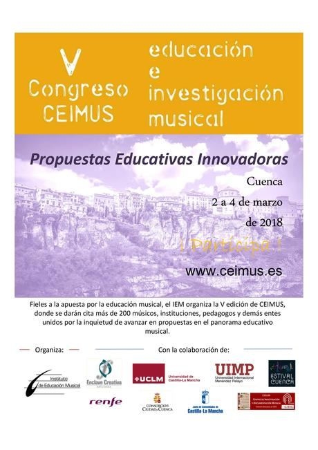 La UCLM y la UIMP acogen el V Congreso de Educación e Investigación Musical 'CEIMUS'