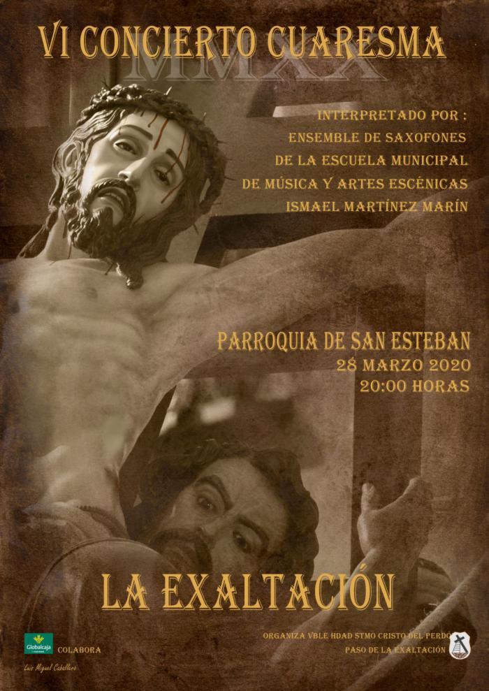 """El Stmo. Cristo del Perdón celebra el 28 de marzo la VI edición de su Concierto de Cuaresma """"La Exaltación"""""""