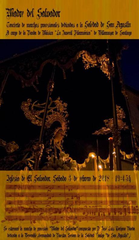 La Soledad de San Agustín celebra este sábado Misa y concierto a cargo de la Juvenil Filarmónica de Villamayor, con estreno de una nueva marcha.