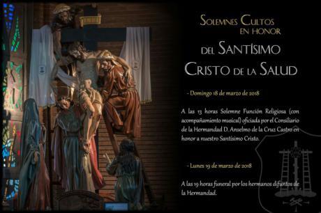 La M. I. V. H. del Santísimo Cristo de la Salud (el Descendimiento) celebra este domingo la Función a su Titular