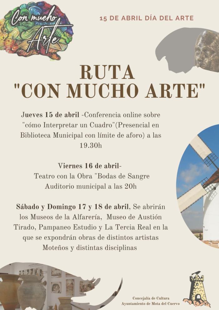 """Mota del Cuervo presenta la Ruta """"Con mucho arte"""""""