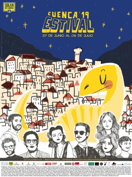 Estival Cuenca presenta su cartel y su propuesta gráfica para la edición de 2019