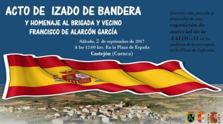 Homenaje a la Bandera el sábado 2 de septiembre en Castejón