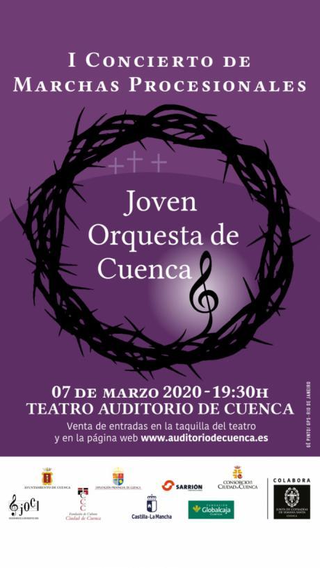 La Junta de Cofradías colabora con el I Concierto de Marchas Procesionales de la Joven Orquesta de Cuenca
