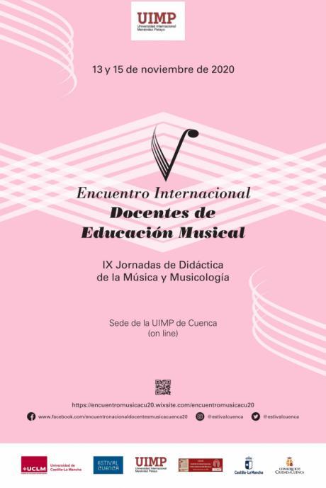 La UIMP acoge el encuentro internacional de docentes de música entre el viernes 13 y el domingo 15 de noviembre de 2020