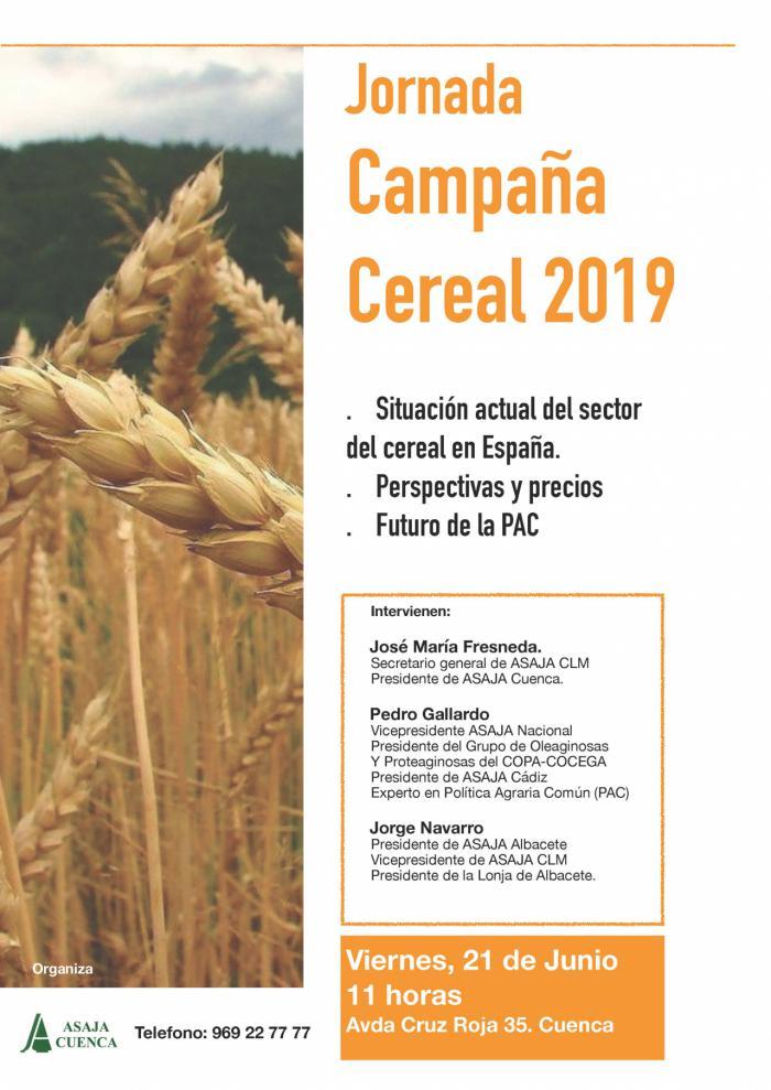 ASAJA Cuenca analizará este viernes el sector del cereal en una jornada a la que asiste Pedro Gallardo, experto en la PAC
