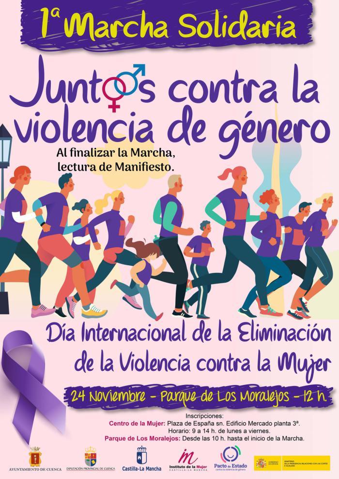 El Ayuntamiento organiza este domingo la I Marcha Solidaria contra la violencia de género