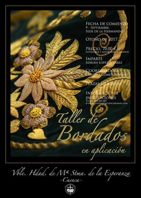La V. H. de María Santísima de la Esperanza organiza un taller de bordado