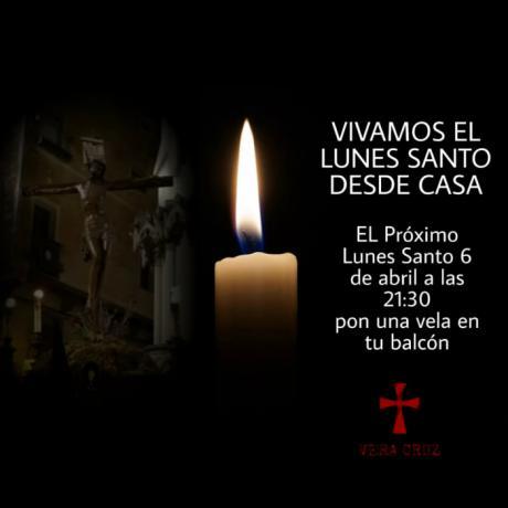 La Vera Cruz llama a encender velas el Lunes Santo en homenaje a las víctimas de la pandemia