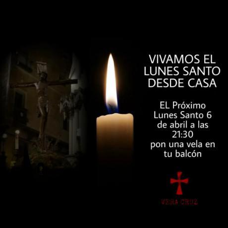 La Vera Cruz hace un llamamiento para encender velas este Lunes Santo