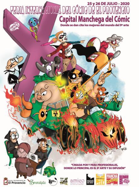 Presentado el cartel de la X Feria Internacional del Cómic de El Provencio
