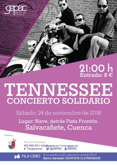 GEPAC y el Grupo Tennessee organizan un concierto solidario en Salvacañete